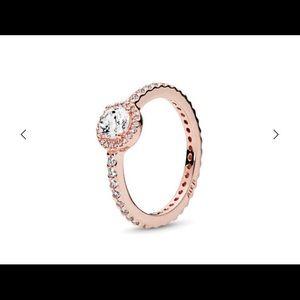 Pandora rose gold classic elegance ring size 7